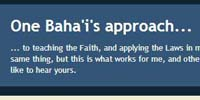 One Bahais Approach