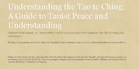 Understanding the Tao Te Ching